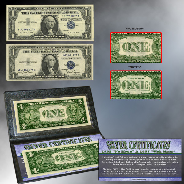 No Mottomotto Silver Certificates Shop The Franklin Mint Official