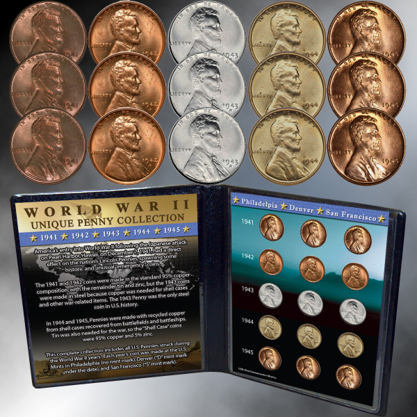 WWII Unique Penny Collection | Shop the Franklin Mint