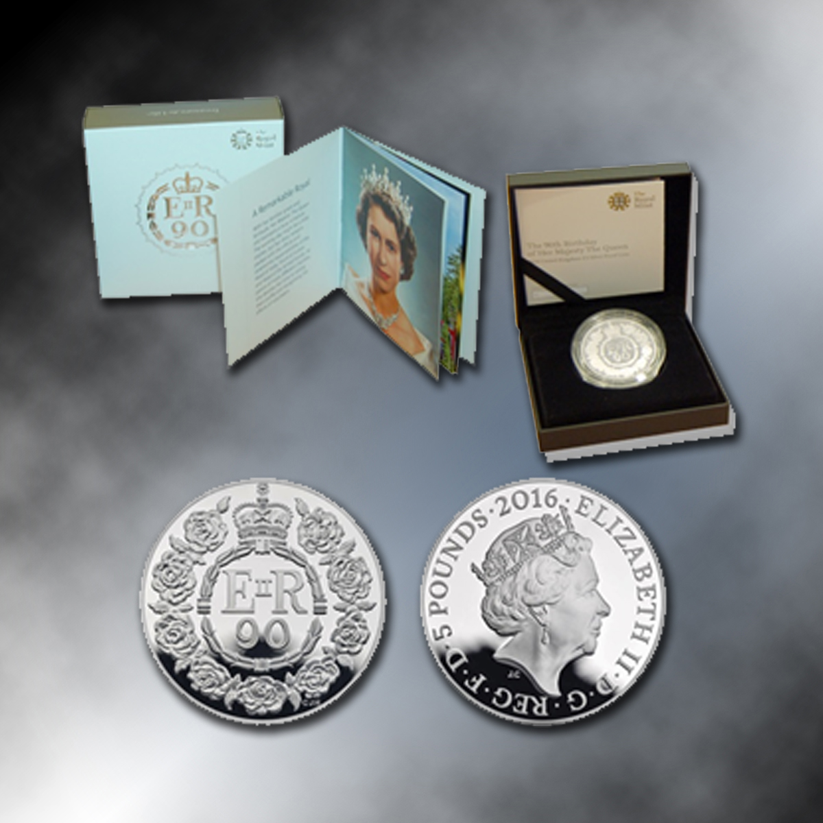 Royal Birthday Coin Official UK £5 - Sterling Silver Proof