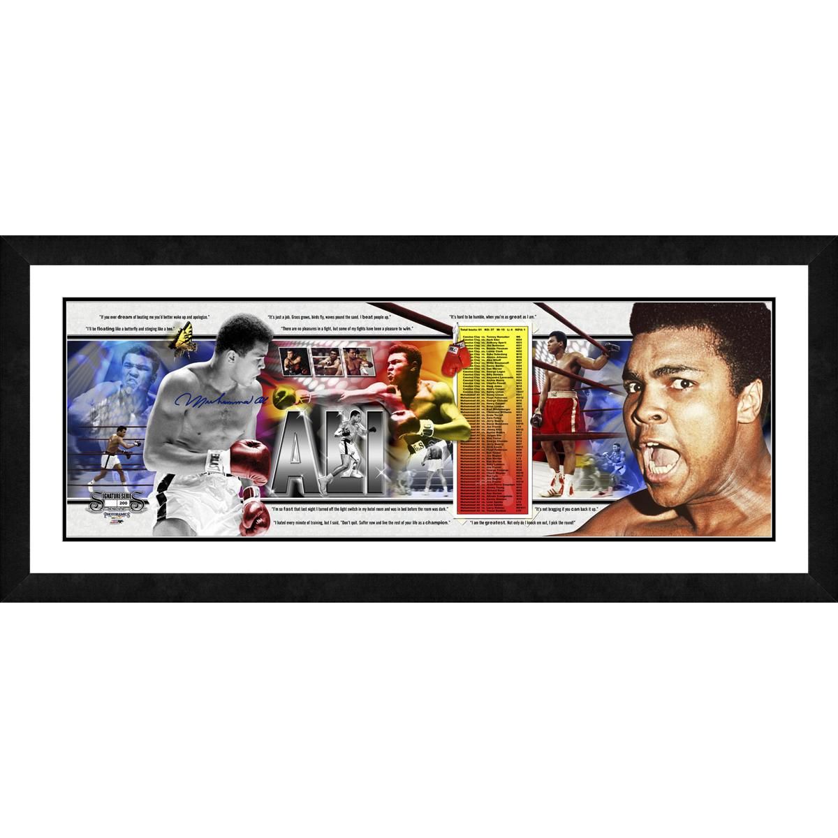 Muhammad Ali Signed Career Photoramic
