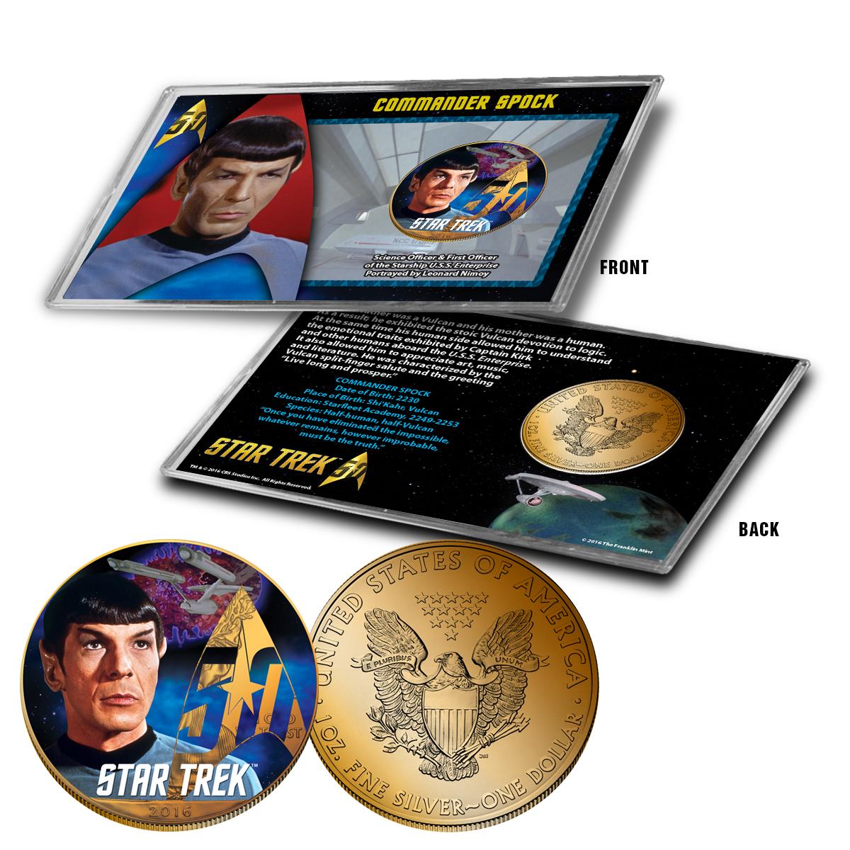 "Star Trek Colorized Silver Eagle Dollar - ""Spock"""