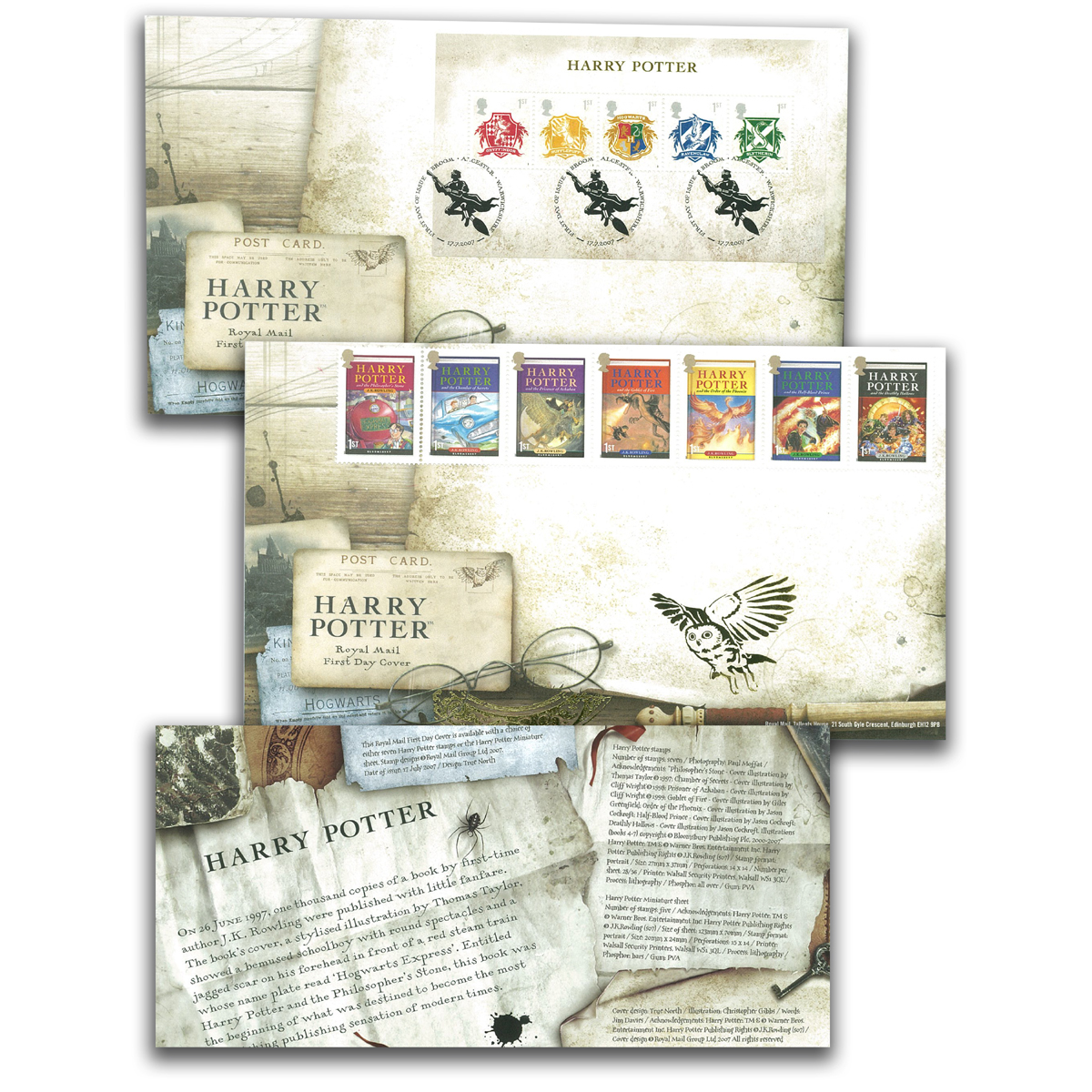 Harry Potter First Day Covers