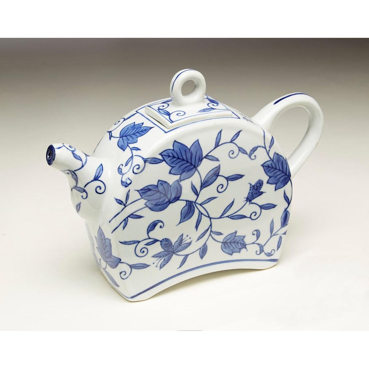 Blue & White Floral Tea Pot