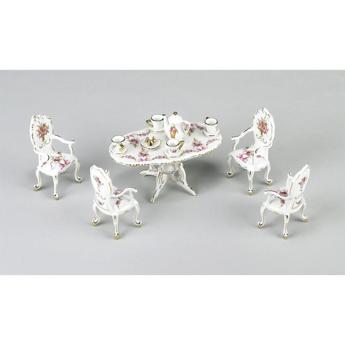 Miniature Table and Tea Set.