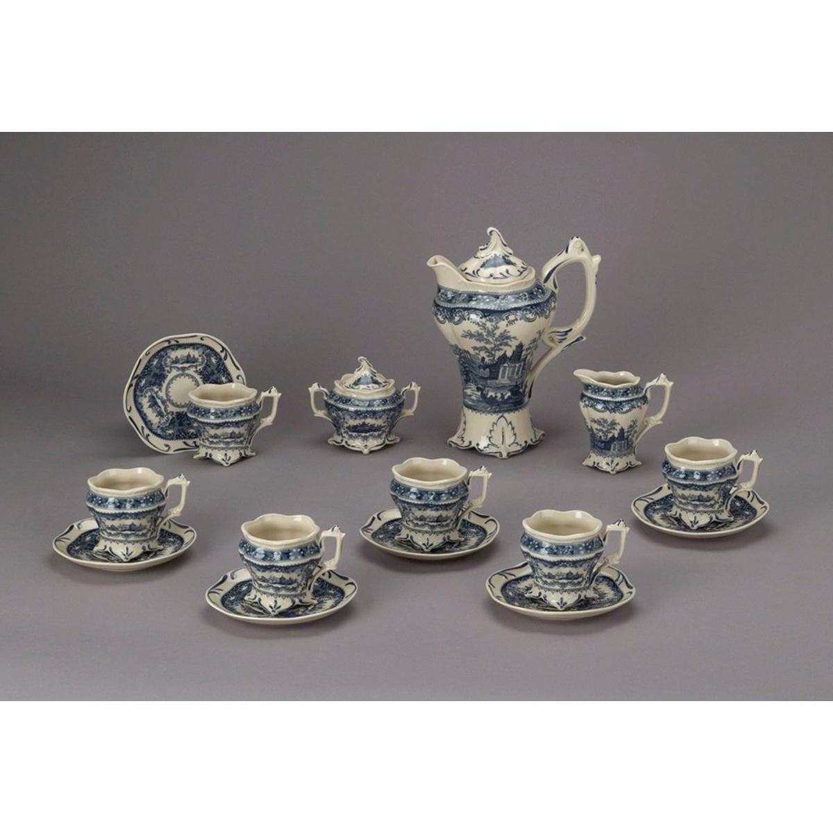 Blue & White Tea Set 15pc