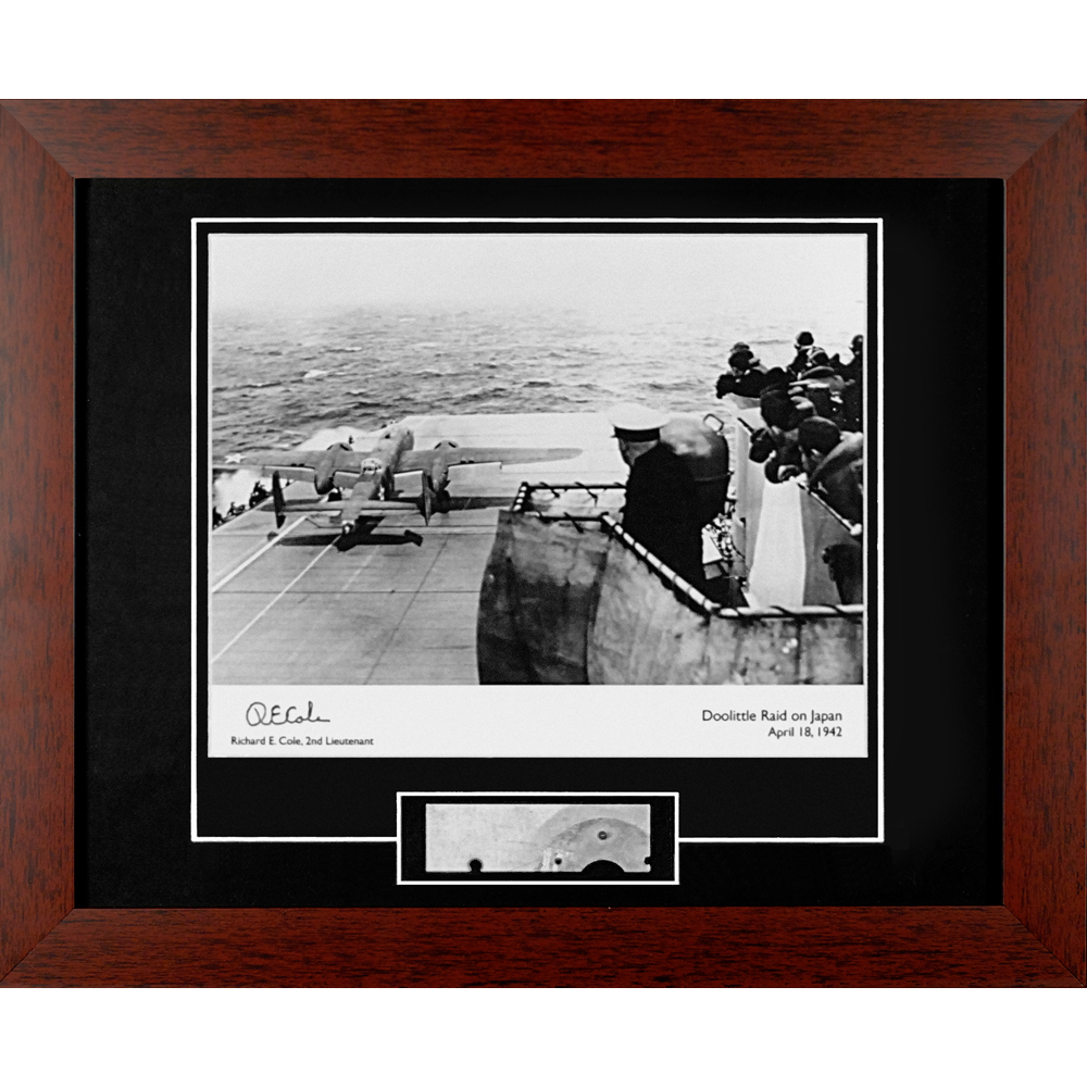 Doolittle Raid Autographed Framed Photograph with Metal Relic