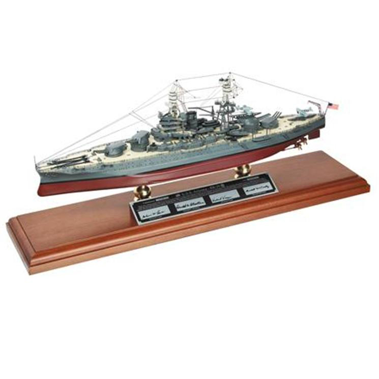 USS Arizona Signed by Lane, McCurdy, Vlach Model