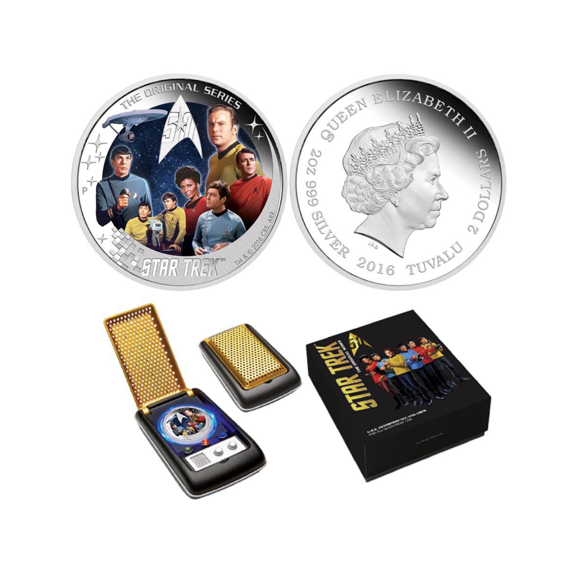 Star Trek – U.S.S. Enterprise NCC-1701 Crew 2oz Silver Proof Coin