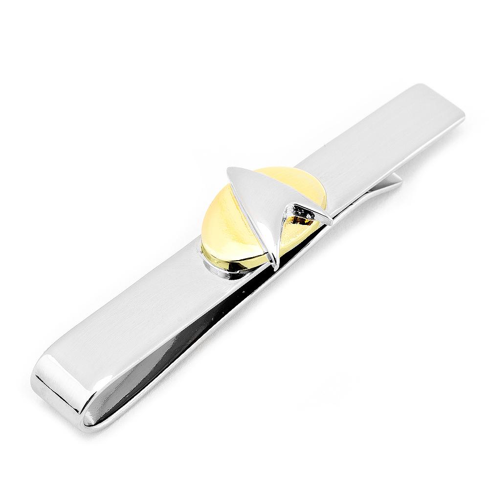 Star Trek Two Tone Star Trek Delta Shield Tie Bar