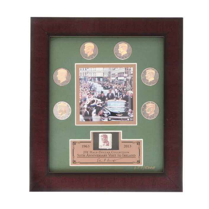 JFK HALF-DOLLAR COLLECTION FRAMED PRINT - IRISH VISIT
