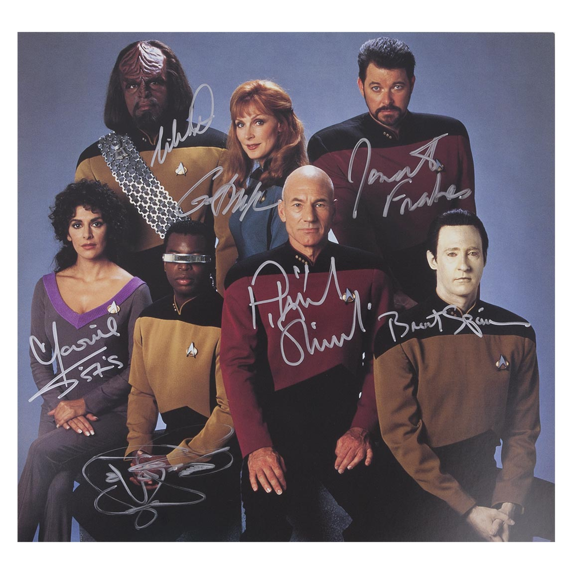 Star Trek The Next Generation Autographed Crew Photo [12x12]