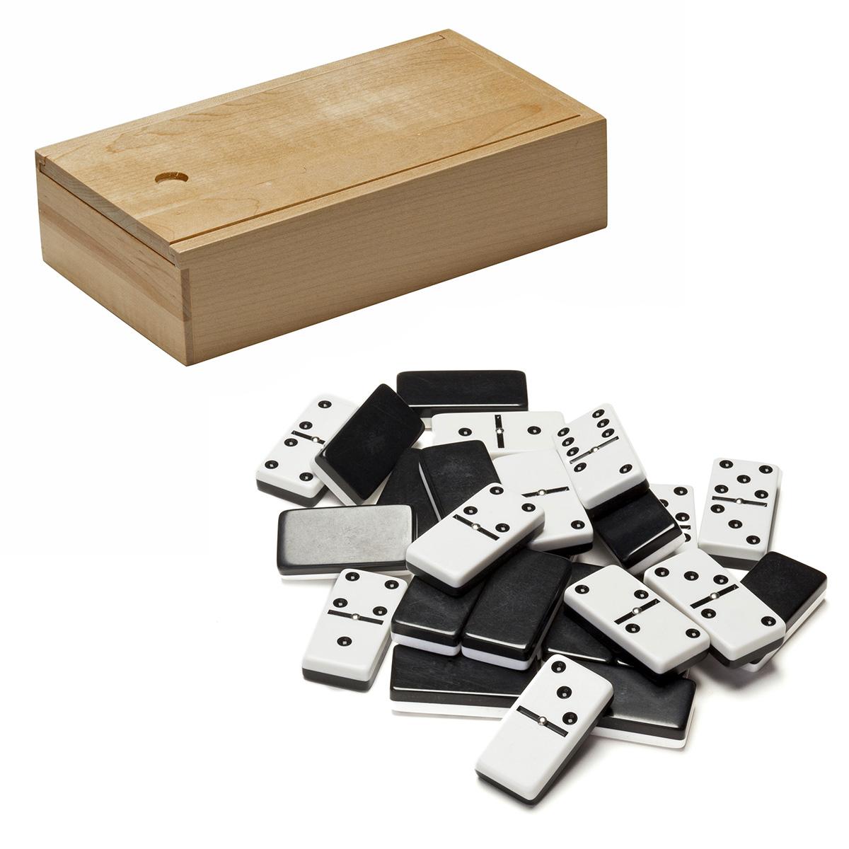WE Games Double 6 Dominoes in Wooden Case