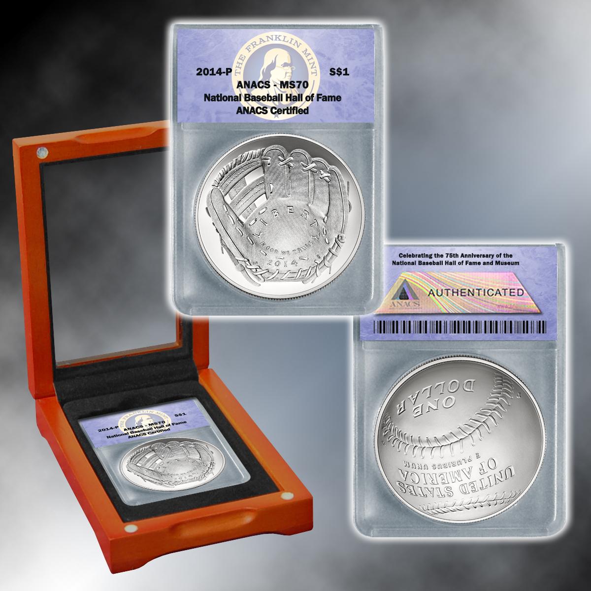 2014 MS70 Baseball Silver Dollar