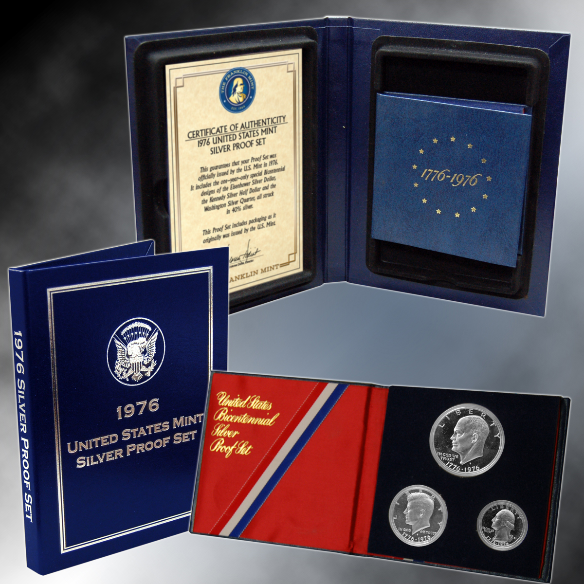 1976 3pc Silver Proof Set