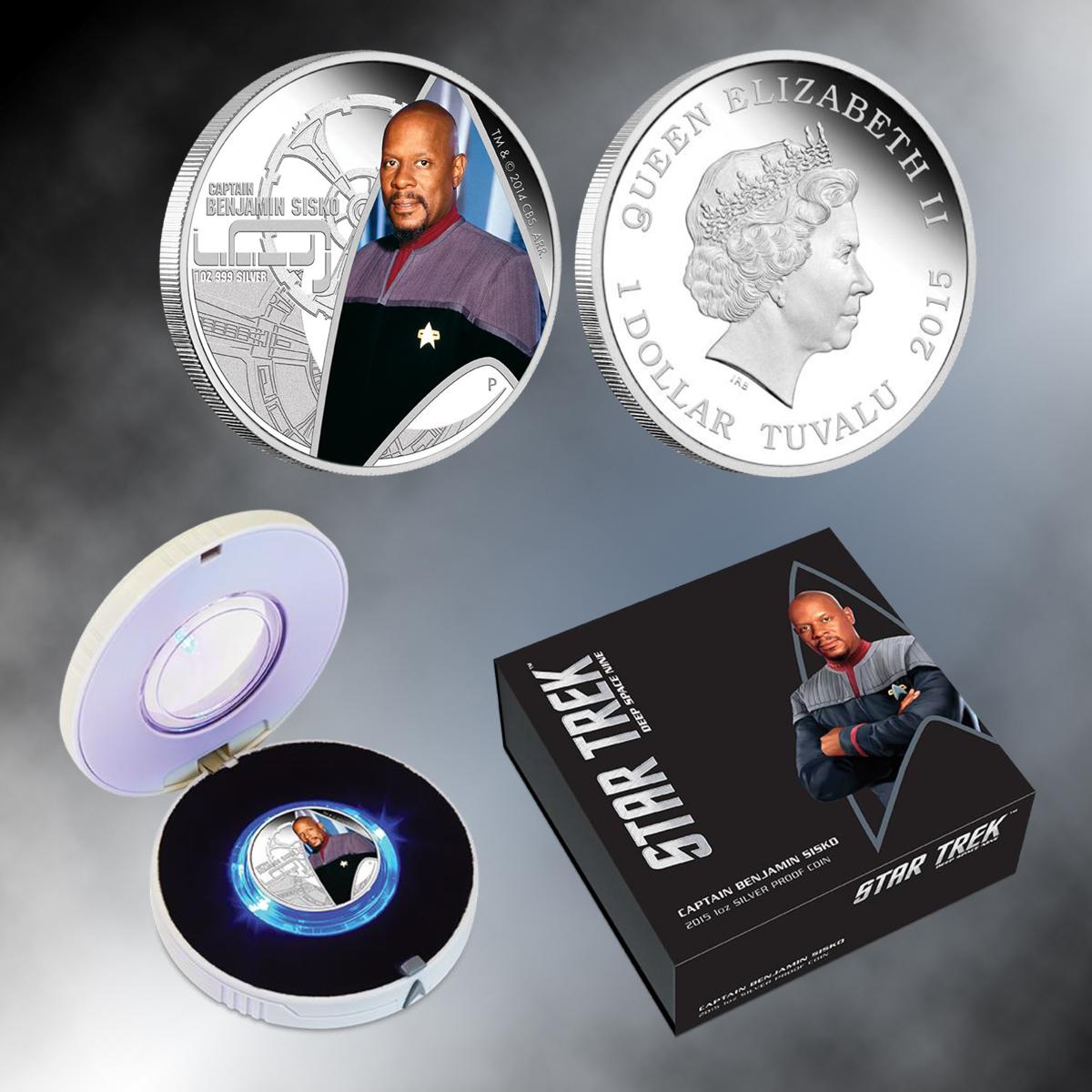 2015 Star Trek: Deep Space Nine - Captain Benjamin Sisko 1oz Silver Proof Coin