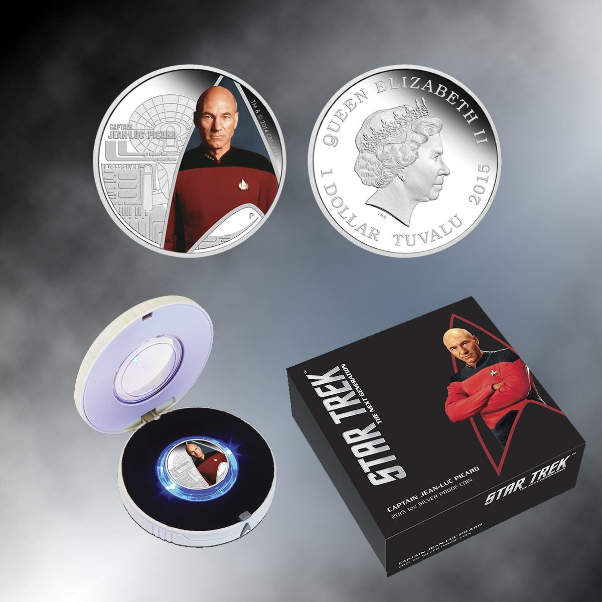 2015 Star Trek: The Next Generation – Captain Jean-Luc Picard 1oz Silver Proof