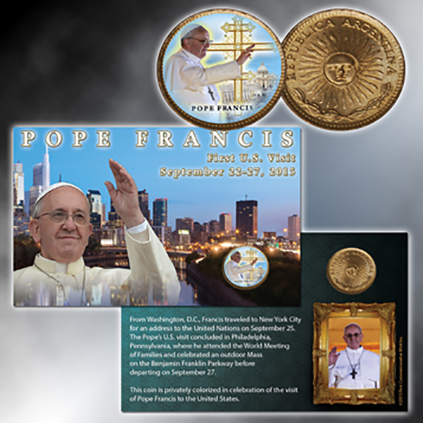 Pope Francis Colorized Argentine Peso