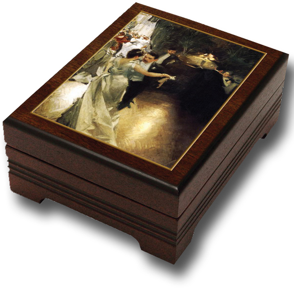 Waltzing Couple Jewelry Box