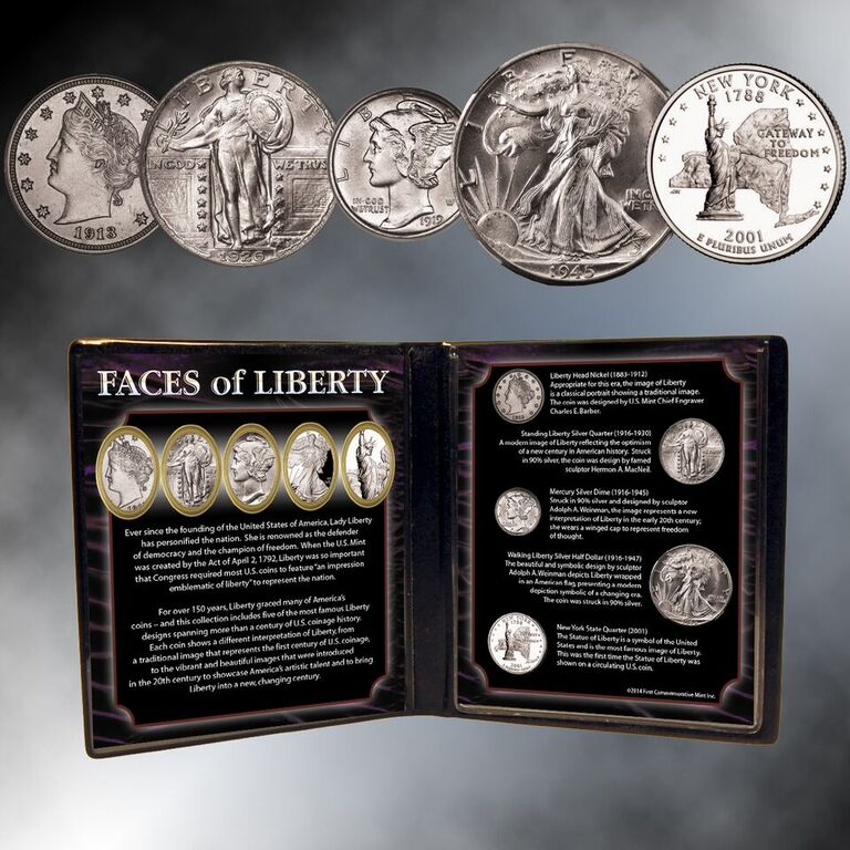 Faces Of Liberty Coin Collection