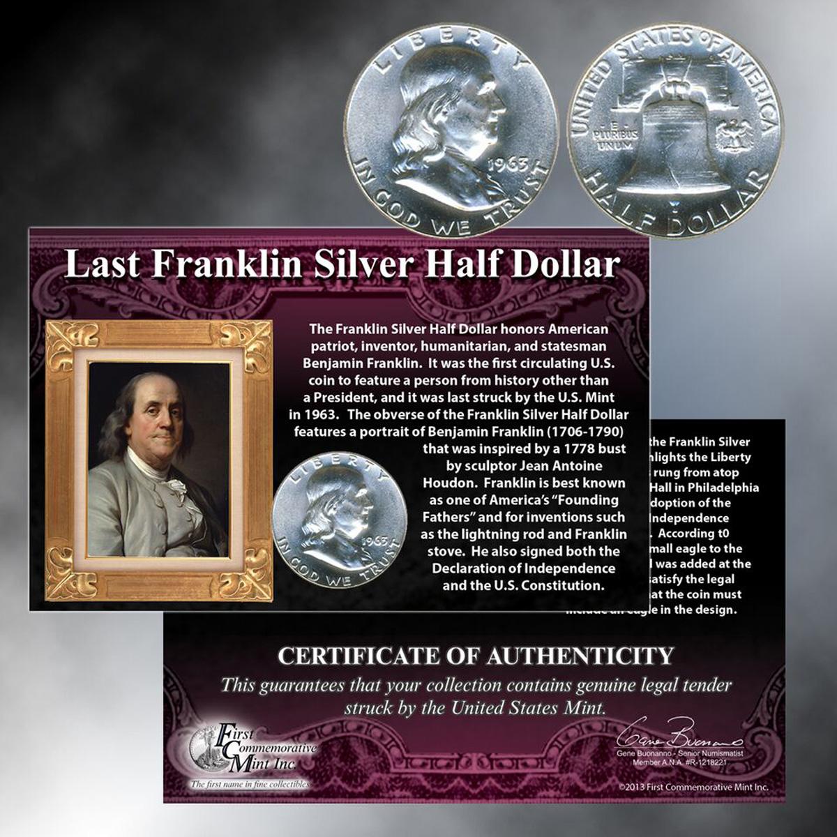 Last Franklin Silver Half Dollar