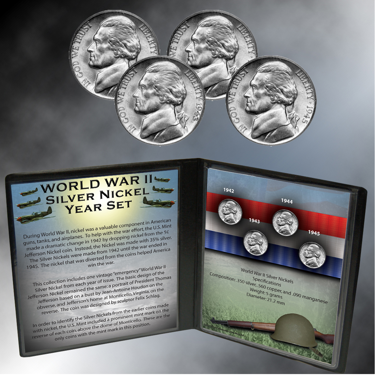 WWII Silver Nickel Year Set
