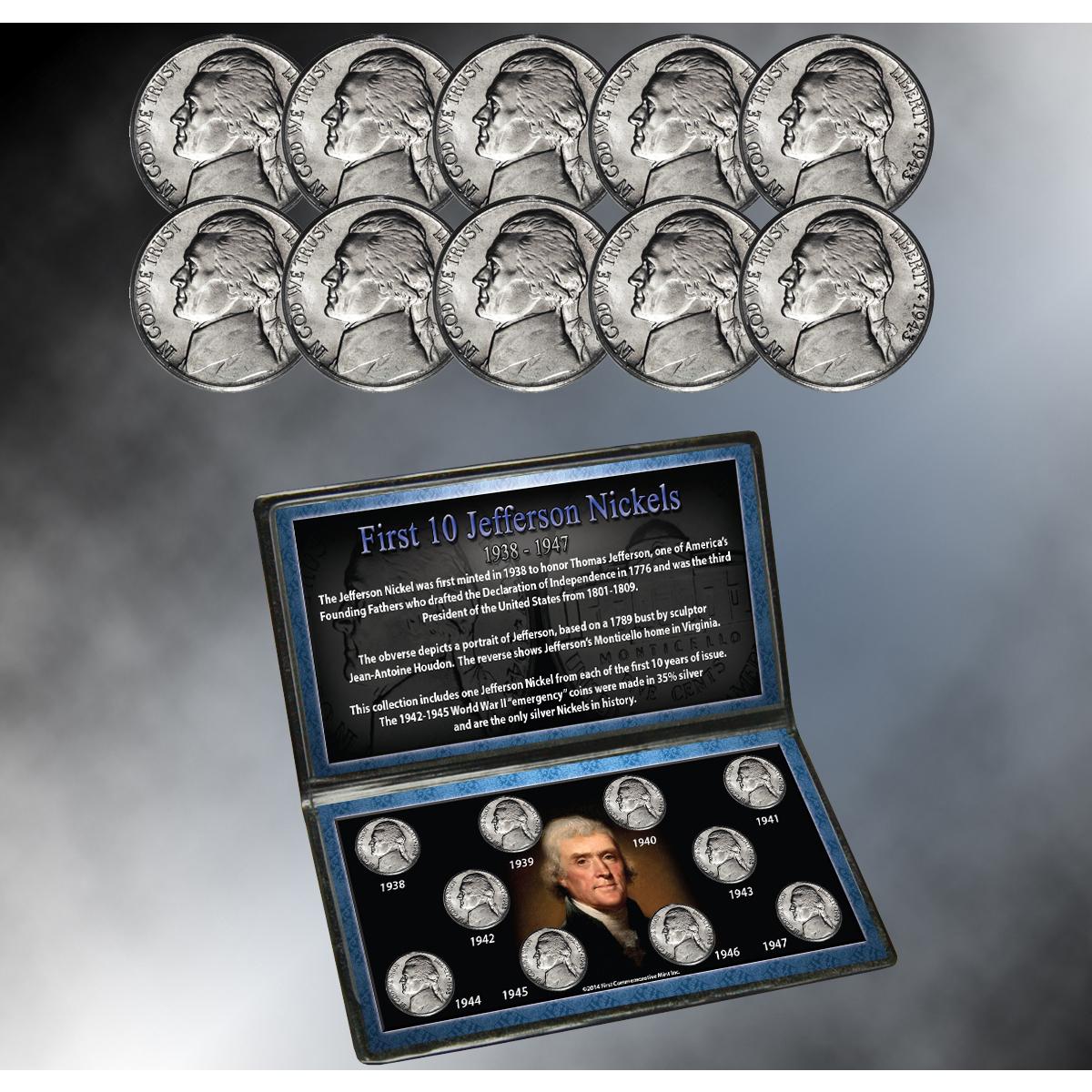 First 10 Jefferson Nickels