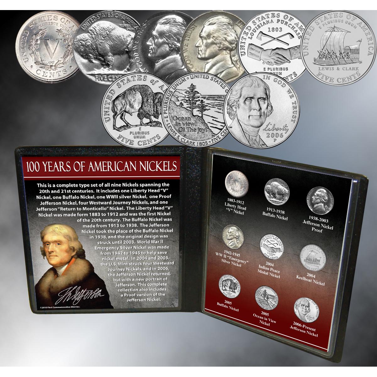 100 Years of American Nickels