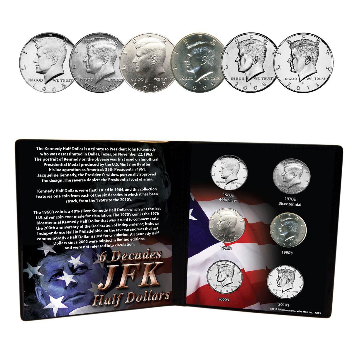 Six Decades of JFK Half Dollars