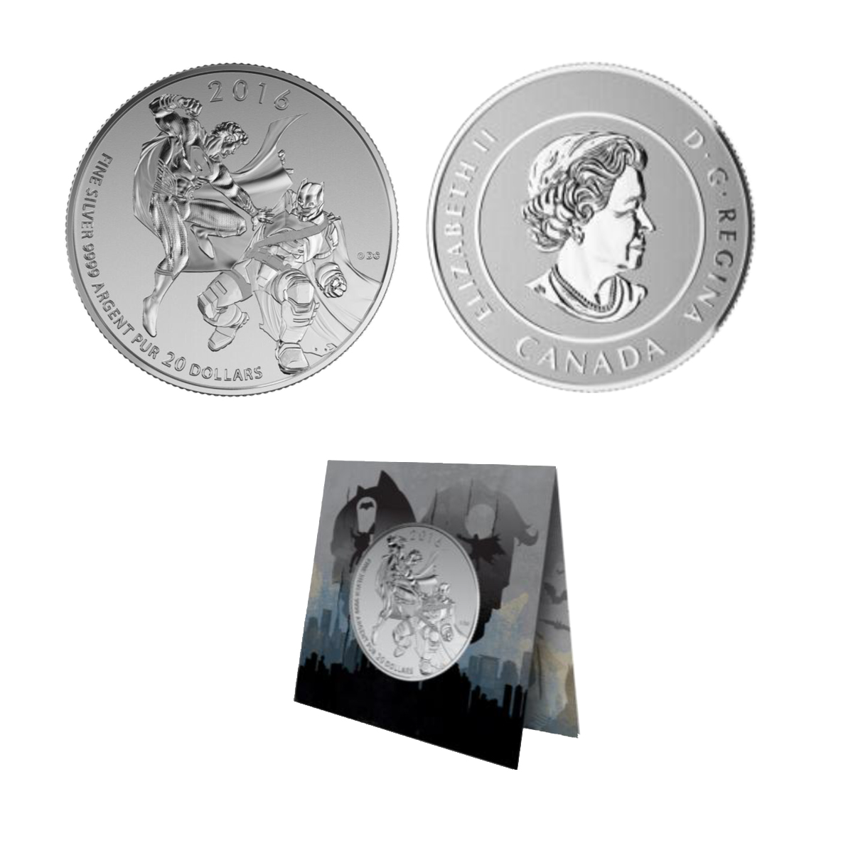 2016 $20 Silver Batman V. Superman: Dawn Of Justice ™