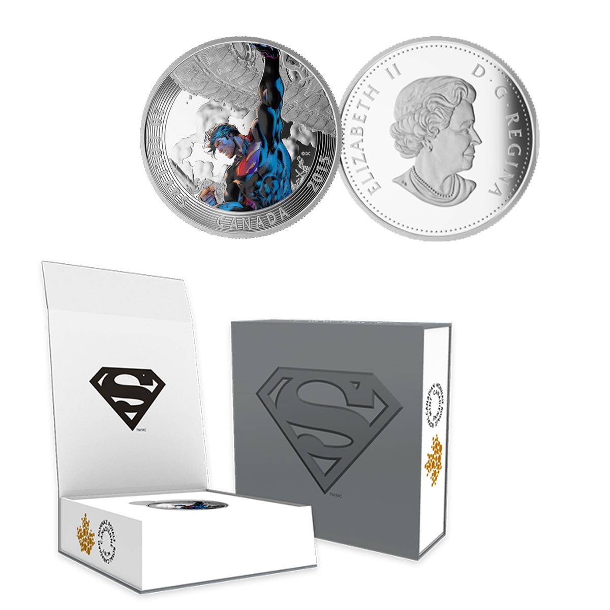 2015 Canada $20 Superman Silver Coin