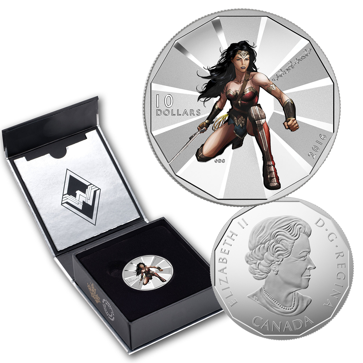 2016 $10 Silver Batman V. Superman: Dawn Of Justice (TM) Wonder Woman Coin