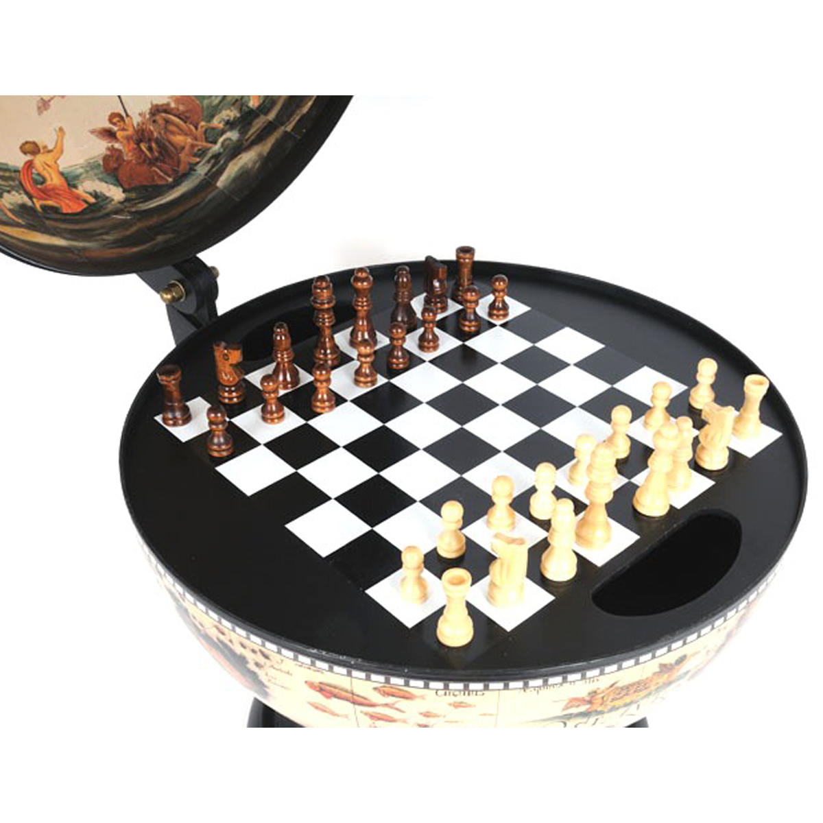 White Globe 13 inches with chess holder