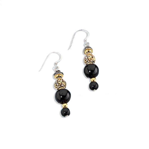 WOMEN'S EL CAZADOR DROP EARRINGS - BEADED (FRENCH WIRE STYLE BACK)
