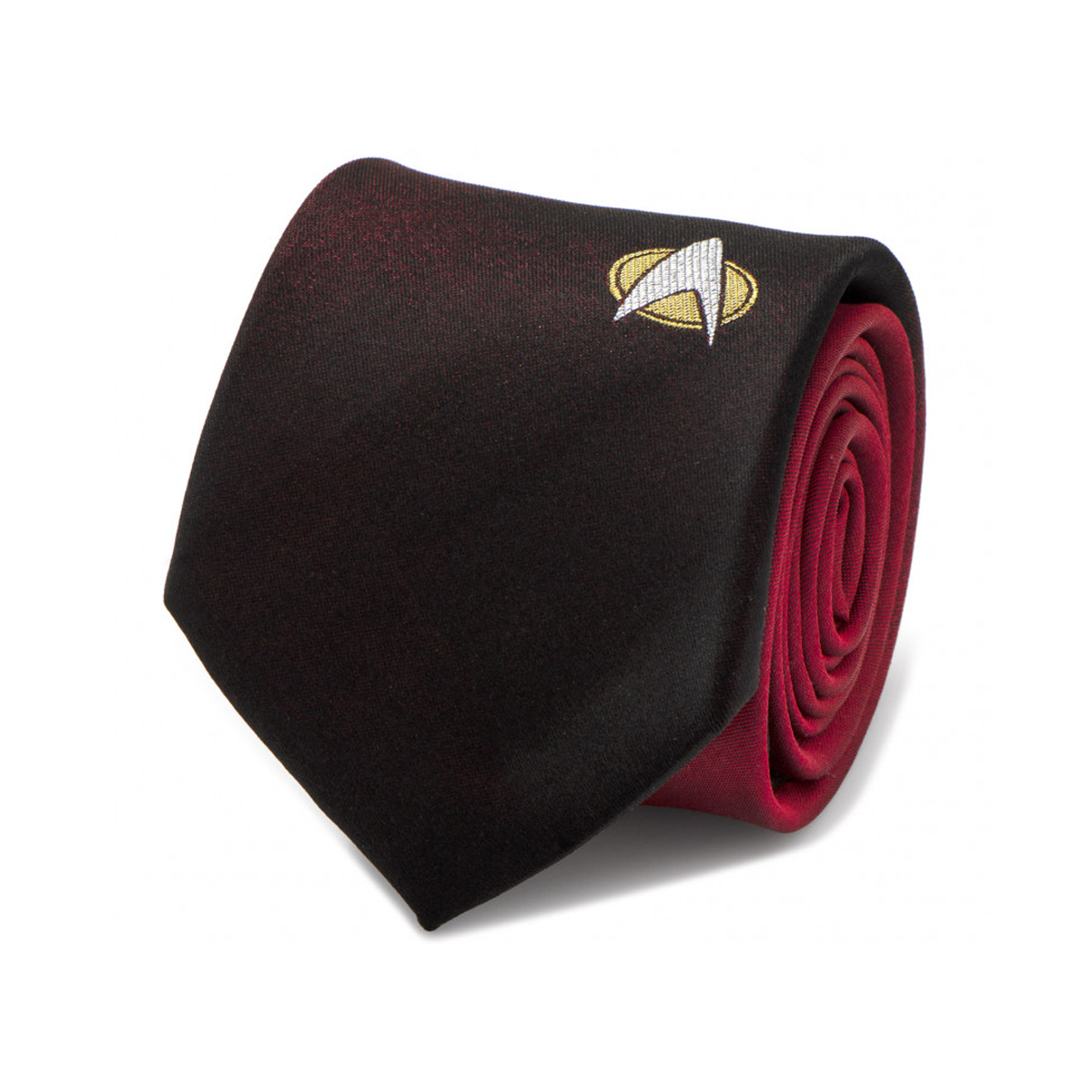 Star Trek The Next Generation Shield Red Ombre Men's Tie