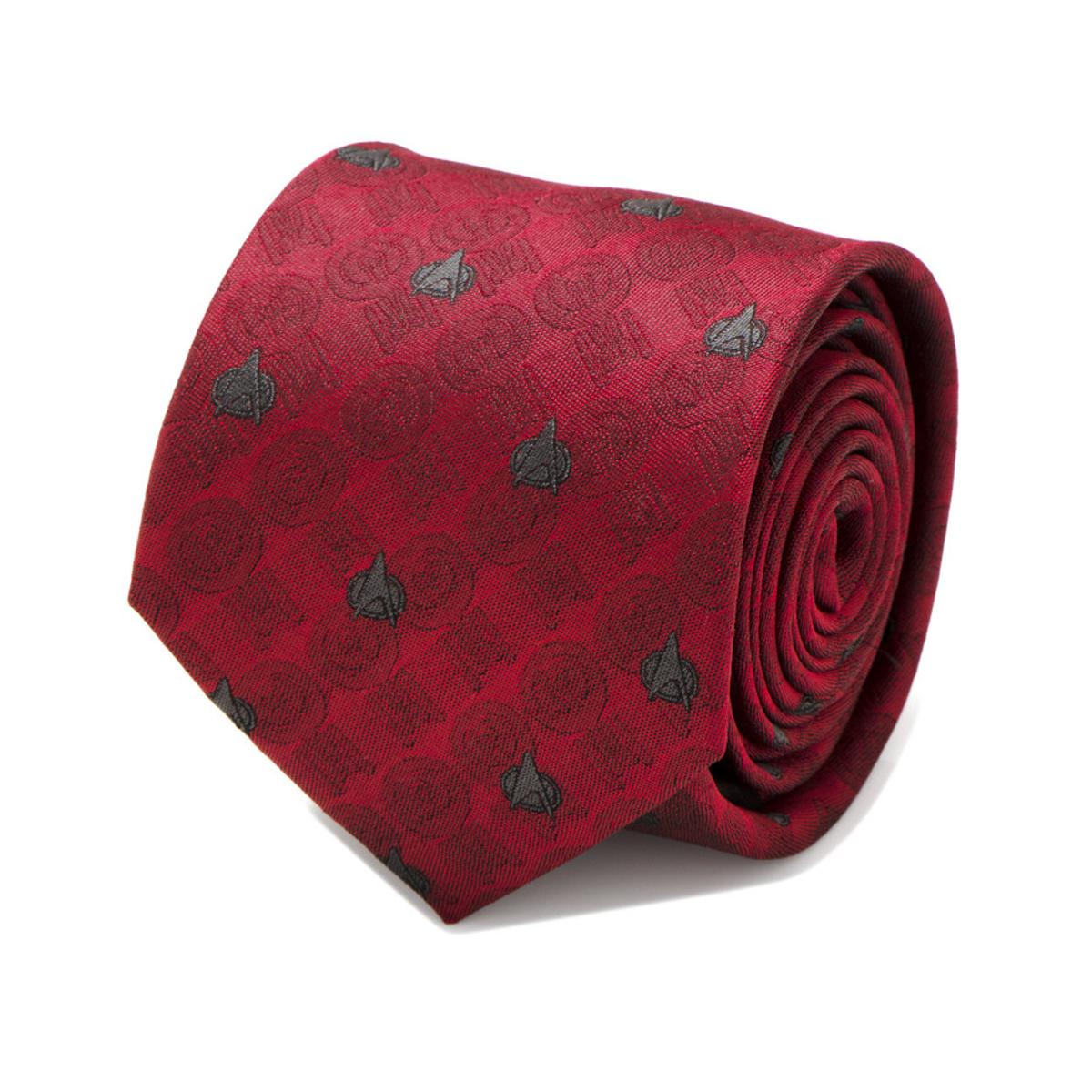 Star Trek The Next Generation Red Delta Men's Tie