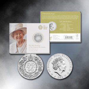 Royal Birthday Coin Official UK £20  -.999 Silver Proof