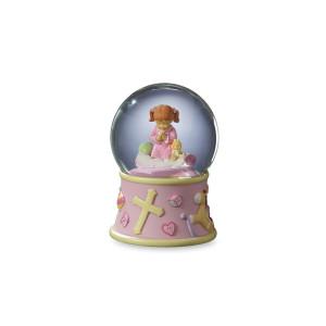 Bedtime Prayers Girl Water Globe