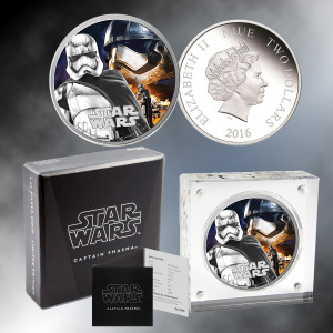 2016 1oz. Silver Star Wars Capt. Phasma