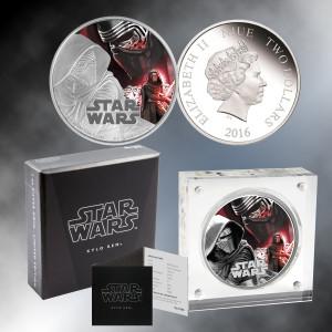 2016 1oz. Silver Star Wars  Kylo Ren