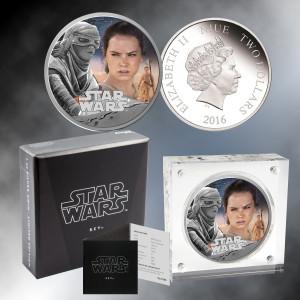 2016 1oz . Silver Star Wars Rey