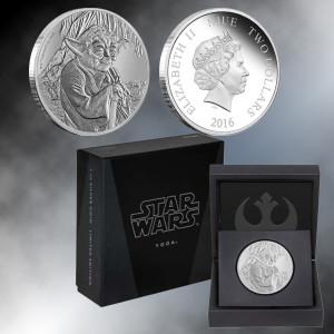 2016 1oz. Silver Star Wars Yoda