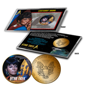 "Star Trek Colorized Silver Eagle Dollar - ""Uhura"""
