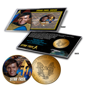 "Star Trek Colorized Silver Eagle Dollar - ""Chekov"""