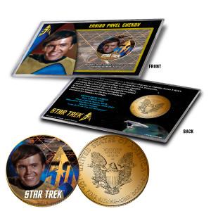 "Star Trek Colorized Silver Eagle Dollar - ""Chekov"""