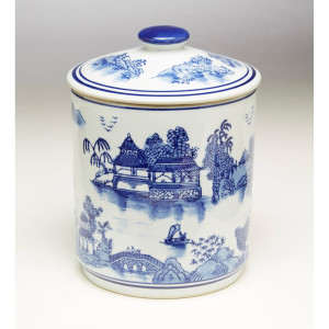 Blue & White Jar Oriental Design