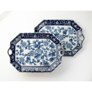 Blue & White Floral Plate