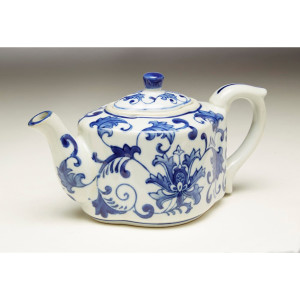 Blue & White Tea Pot