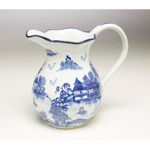 "Blue & White 8.5"" Pitcher"