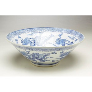 "Blue & White 16"" Bowl"