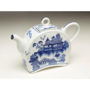 "Blue & White Tea Pot 10"""